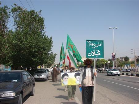 خمام - بازدید از کاروان پیاده زائرین حرم امام (ره)