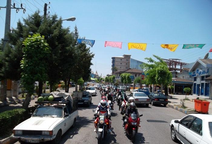 خمام - غبار روبی مزار شهدای 8 سال دفاع مقدس و رژه موتورسواران در خمام