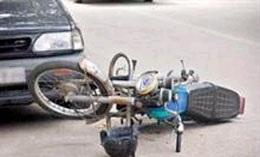 مرگ موتورسوار 44 سالهی خمامی در سانحهی تصادف با خودروی سواری