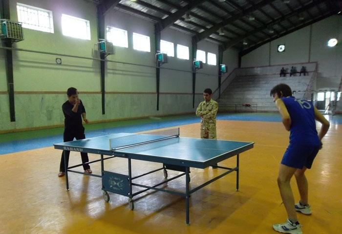 خمام - برگزاری مسابقات پینگ پنگ در سالن شهدای خمام