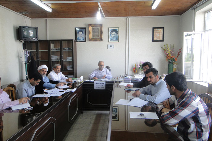 سومين جلسه از ستاد پروژه مهر اداره آموزش و پرورش خمام برگزار شد