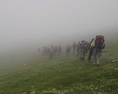 صعود هیئت کوهنوردی خمام به قله درفک