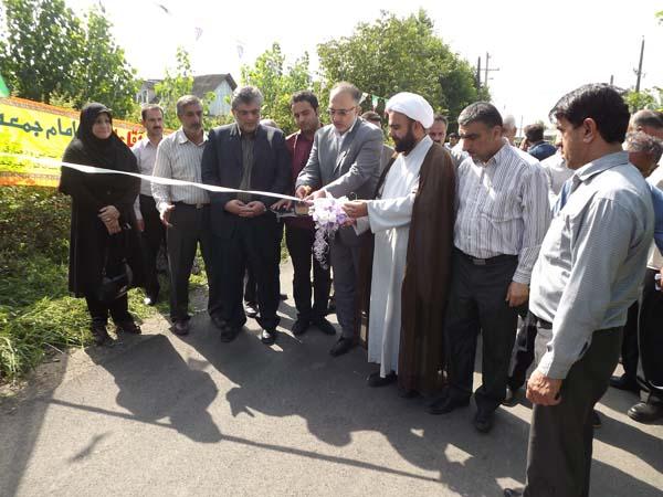 خمام - افتتاح و بهرهبرداری از چند پروژهی روستایی در سومین روز از هفتهی دولت