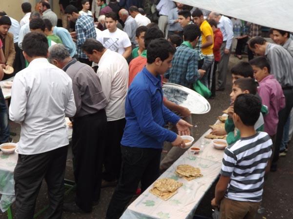 برگزاری مراسم صبحانه در پایگاه شهری شهید شیرودی خمام