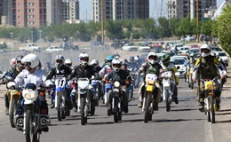 خمام - برگزاری همایش موتورسواری، مسابقات دو و میدانی و پینگپنگ بانوان در خمام
