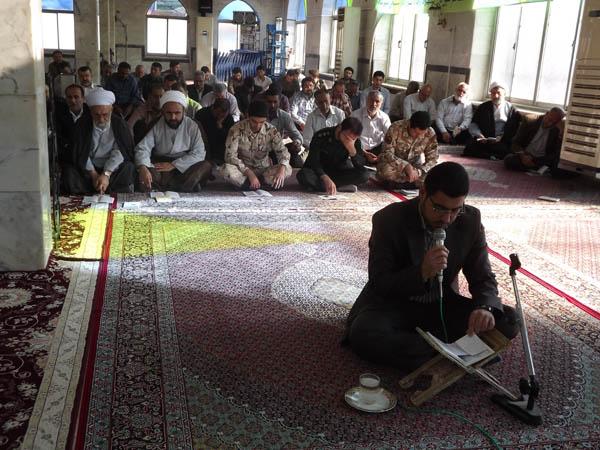 خمام - برگزاری مراسم پرفیض زیارت عاشورا در آستان مقدس امامزاده حسن (ع) خمام