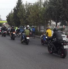 خمام - رژهی موتورسواران از مقابل سپاه ناحیهی مقداد تا مزار شهدای مسجد جامع خمام