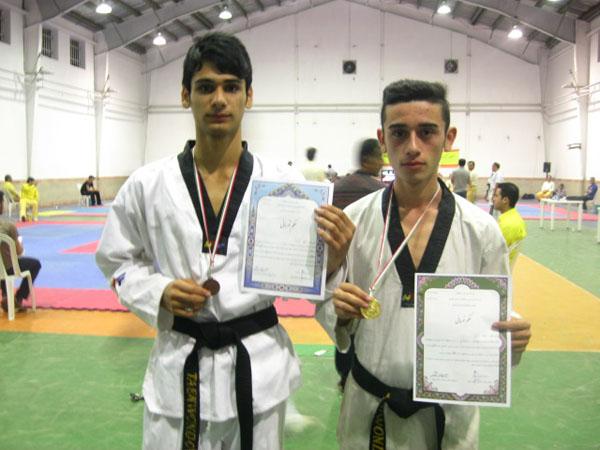 کسب مقام قهرمانی رضا رائی و مقام سومی علی پارسا در مسابقات استانی تکواندو