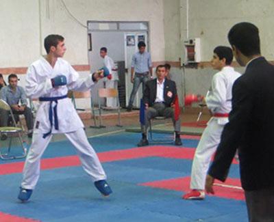 خمام - قهرمانی کوروش نژادفارس و امیرمحمد لطفیکیان در مسابقات استانی کاراته