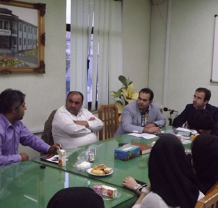 اولین جلسهی شورای شهر خمام با هنرمندان تئاتر بخش خمام برگزار گردید