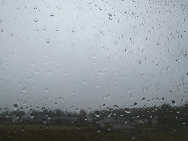 شدت گرفتن بارش باران در خمام
