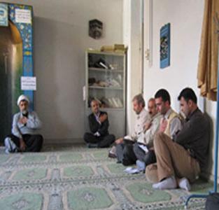 خمام - برگزاری مراسم شهادت امام محمدباقر (ع) در نمازخانهی آموزش و پرورش خمام