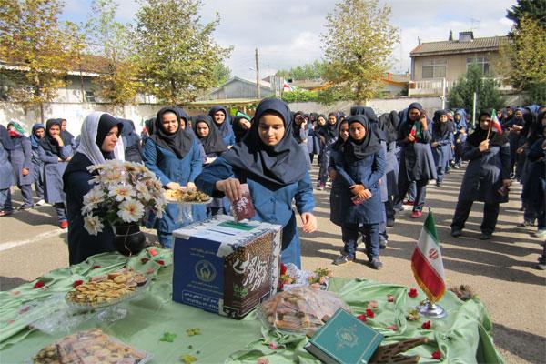 خمام - برگزاری جشن عاطفهها در مدارس منطقه