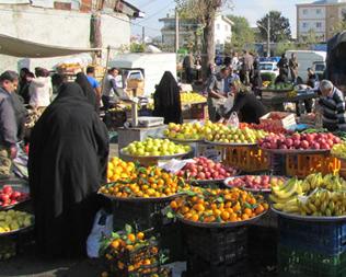 خمام - حضور اکیپ تولید برنامهی شبکهی نسیم در بازار هفتگی خمام