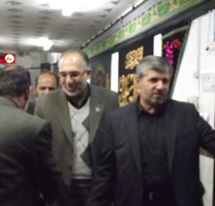 خمام - حضور فرماندار در مراسمات عزاداری آستان امامزاده حسن (ع) و مسجد سیدالشهداء