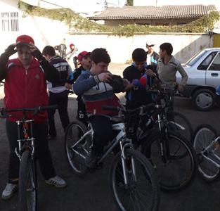 مسابقهی دوچرخه سواری برگزار شد