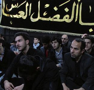 خمام - مراسم عزاداری امام حسین (ع) در پایگاه شهید شیرودی خمام برگزار گردید