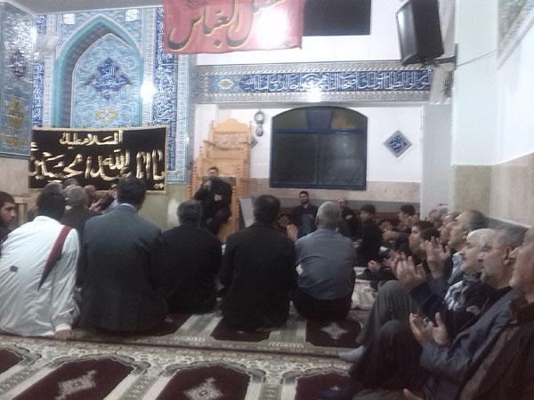 خمام - مراسم شب دوم از دههی اول ماه محرم در مسجد سیدالشهداء برگزار گردید
