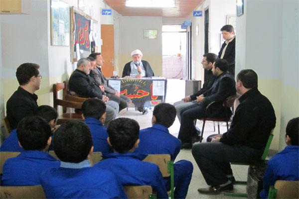 خمام - مراسم عزاداری در مجتمع رسول اکرم (ص) منطقهی خمام برگزار شد