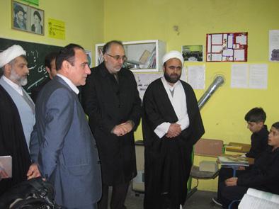 بازديد اعضاي شوراي آموزش و پرورش بخش خمام از دبستان مولوي