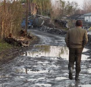 خمام - وضعیت نامساعد جادههای خاکی بعد از بارندگی
