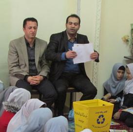 اجرای طرح آموزش «تفکیک زباله از مبدا» در مدرسهی دخترانهی شهید صادقی