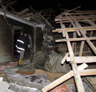 انفجار مهیب گاز در بلسکلهی چوکام موجب تخریب چند منزل مسکونی شد