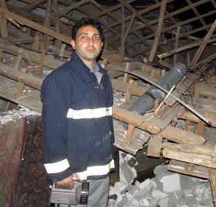 حادثهی انفجار گاز حدود 900 میلیون ریال خسارت بههمراه داشته است