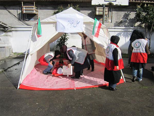 خمام - مانور زلزله در مدارس خمام اجرا گردید