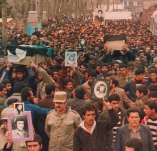 تشییع پیکر شهید ابراهیمنژاد و صداقتمنش