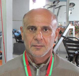 حضور سیدعباس کاظمی در مسابقات پرسسینهی قهرمانی کشور