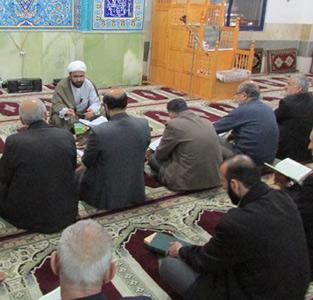 خمام - مراسم وفات حضرت معصومه (س) در مسجد سیدالشهدا (ع) برگزار شد