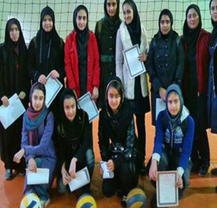 مسابقات والیبال دختران در مقطع متوسطهی دوم بخش خمام برگزار شد