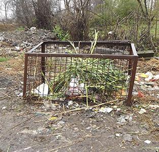 نگاهی به فرسودگی «سبدهای فلزی زباله»