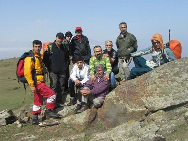 صعود هیئت کوهنوردی خمام به «گلدیان»