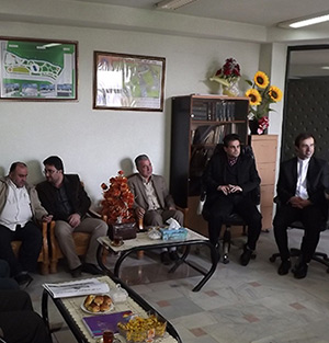 دیدار رئیس پلیسراه رشت-انزلی با شهردار و اعضای شورای شهر خمام