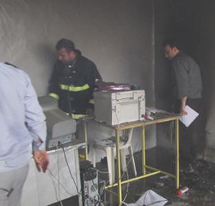 خمام - یکباب مغازه در خیابان بهشتی آتشگرفت