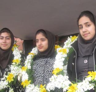 خمام - کسب مقام سوم کشوری مسابقات نادکاپ شریف توسط دانشآموزان مهرک فرجی
