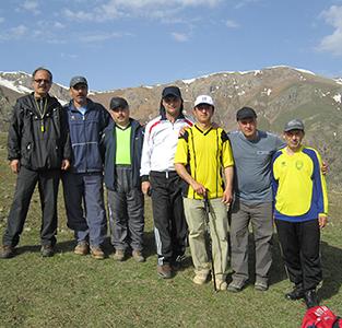 خمام - کوهپیمایی مشترک گروه کوهنوردی شهرداری و اعضای اصلی هیئت کوهنوردی خمام