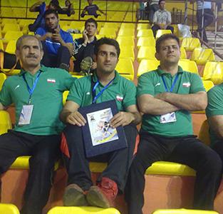 تصاویری از حضور «مهیار صفری» در کادر فنی تیم ملی کشتی فرنگی جوانان ایران