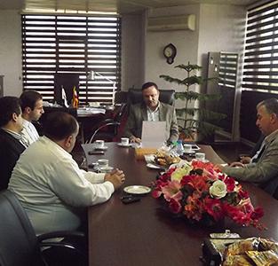 خمام - دیدار اعضای شورای شهر و شهردار خمام با مدیرعامل منطقهی آزاد انزلی