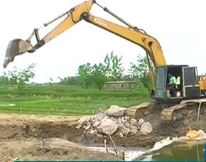 پروژهی بند انحرافی و سر دهنهسازی انهار روستایی خمام در حال اجرا است