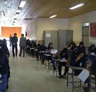 خمام - برگزاری آزمون ورودی مدارس نمونهی دولتی در مدرسه امام حسین (ع)