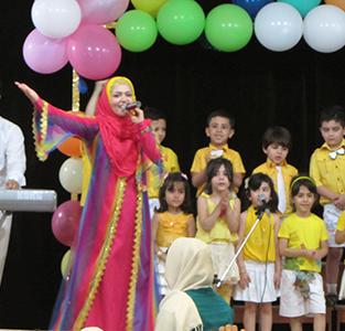 خمام - حضور «عمه خورشید» در جشن فارغالتحصیلی مهدکودک مهر عرشیان