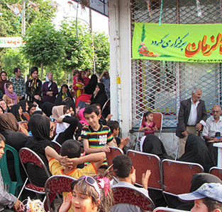 خمام - برگزاری جشن میلاد صاحبالزمان (عج) در مرکز شهر خمام