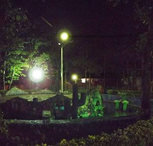 وضعیت نامناسب روشنایی پارکهای خمام