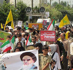 حضور پرشور مردم در راهپیمایی روز قدس