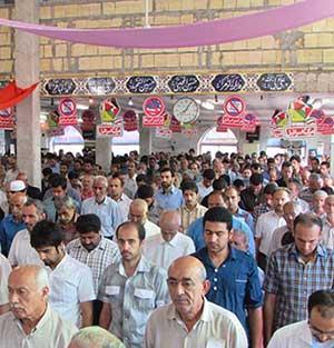 خمام - نماز عید سعید فطر در مسجد جامع خمام و مسجد سیدالشهدا (ع) اقامه شد