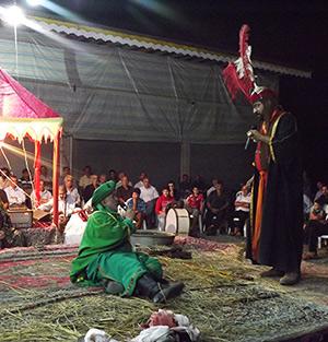 خمام - برگزاری مراسم تعزیه خوانی در دهستان کتهسر