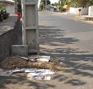 خمام - وضعیت نامناسب خیابان بوعلی پس از اتمام بازار هفتگی روزهای یکشنبه